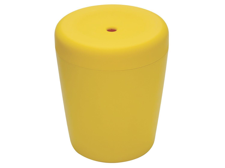 Puff Baú Redondo Infantil Amarelo - Basic Tramontina