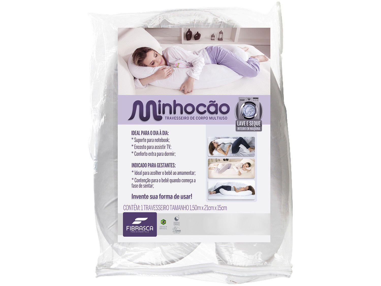 Travesseiro de Corpo Minhocão - Fibrasca Fibra Siliconizada