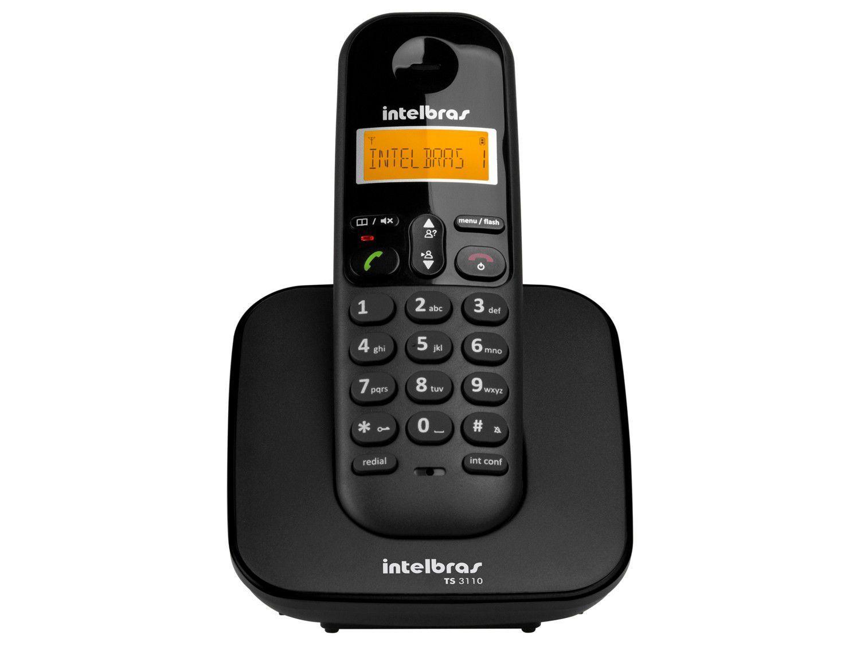 Telefone Sem Fio Intelbras TS 3110 - Conferência Preto