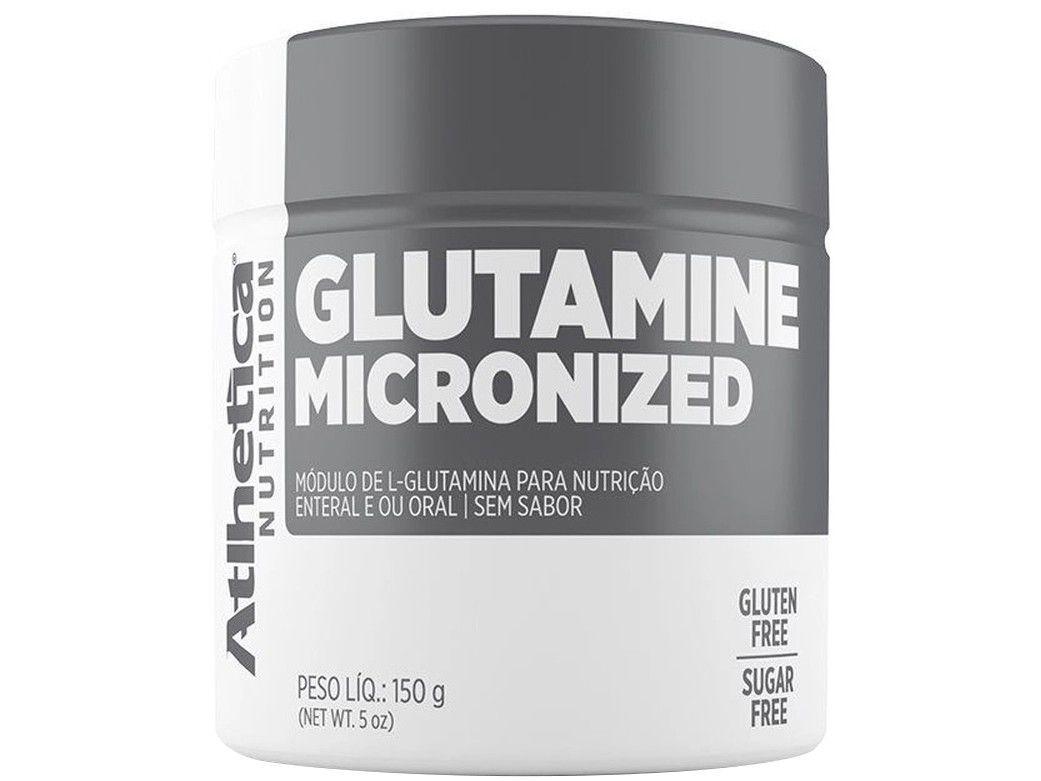 Glutamina Atlhetica Nutrition Micronized - em Pó 150g sem Sabor