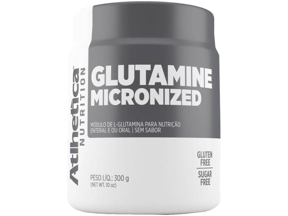 Glutamina Atlhetica Nutrition Micronized - em Pó 300g sem Sabor