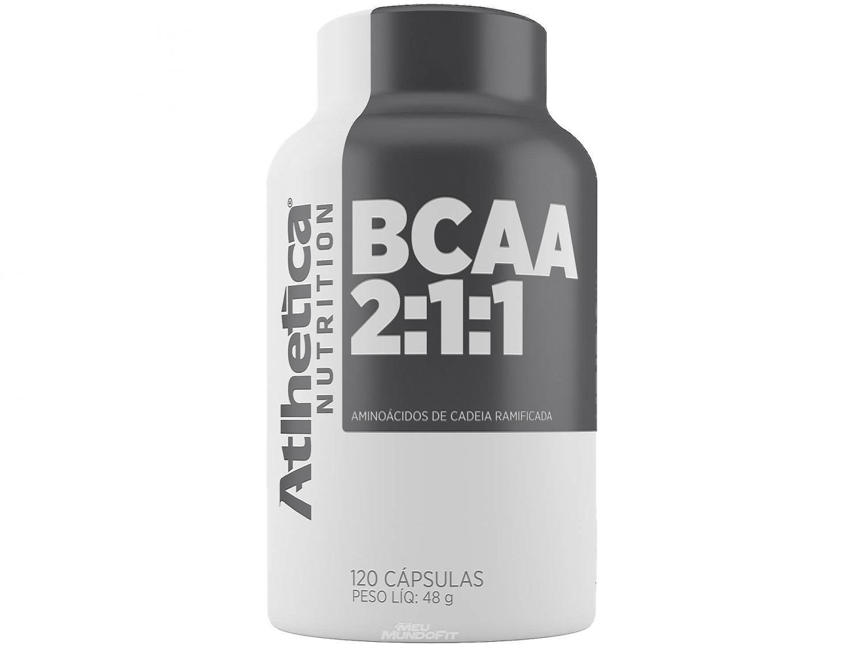 BCAA 2:1:1 Atlhetica Nutrition 120 Cápsulas - Natural