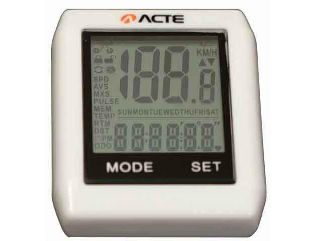 Ciclocomputador sem Fio Acte Sports A32 - 16 Funções