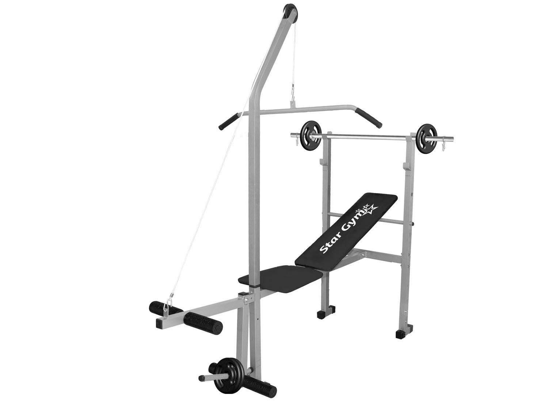 Estação/Aparelho de Musculação StarGym S400 - 4 Anilhas 1kg até 150kg Acompanha Barra