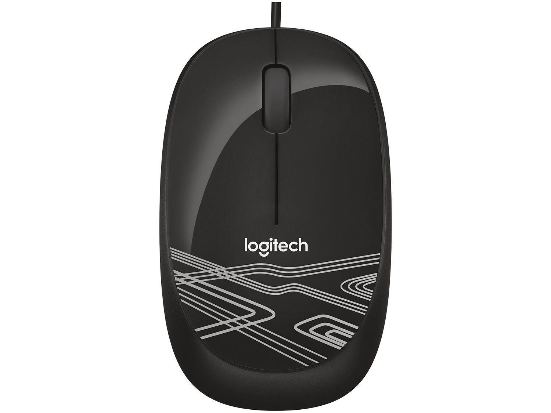 Mouse Logitech Laser 2 Botões M105 Preto