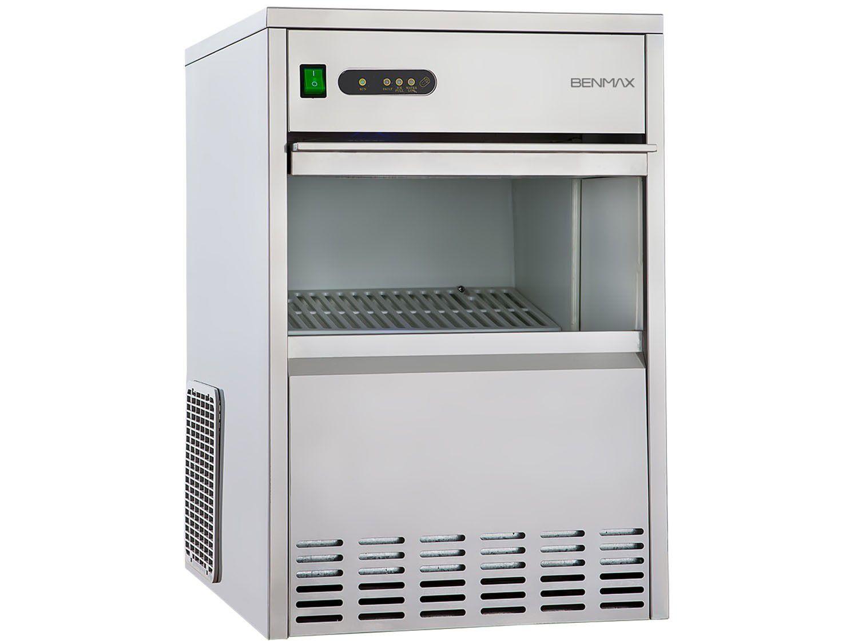 Máquina de Gelo BenMax Super Ice Produção até 50kg - Armazenamento até 7kg Inox