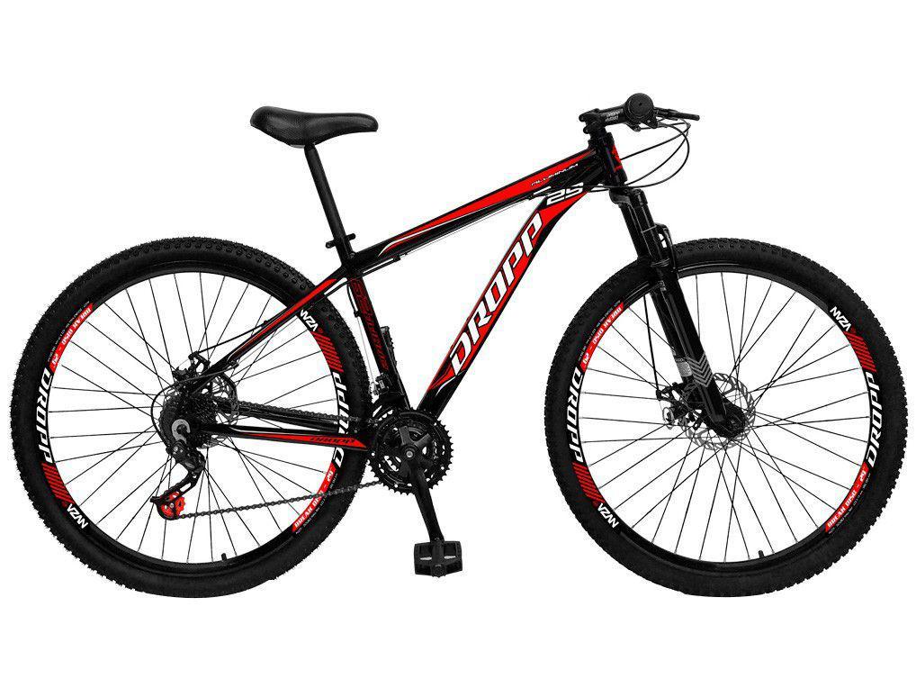Mountain Bike Aro 29 Dropp Aluminum Freio a Disco - 21 Marchas