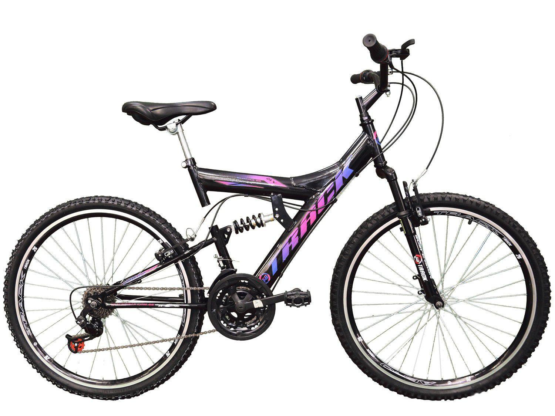 Bicicleta Aro 26 Track Bikes Full Suspension - TB 300XS Aço Freio V-Brake 21 Marchas