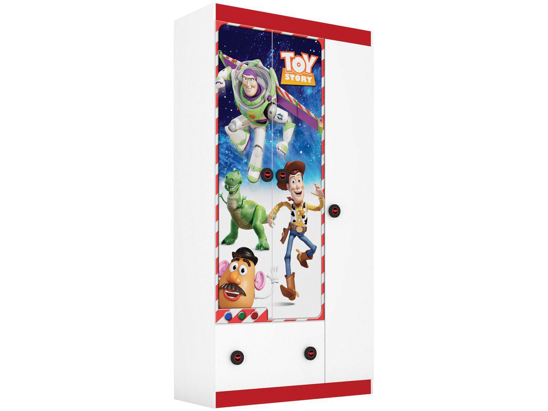 Guarda-roupa Infantil 3 Portas 1 Gaveta Pura Magia - Toy Story 19652