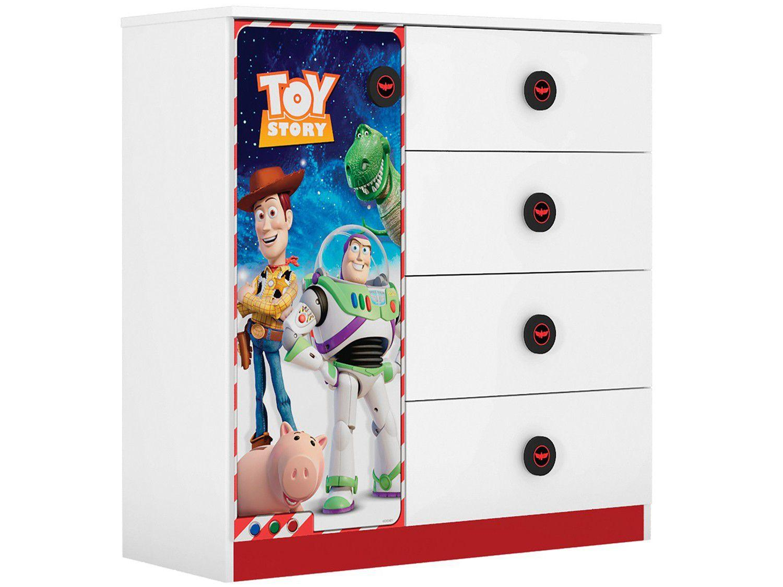 Cômoda Infantil 1 Porta 4 Gavetas Móveis Estrela - Toy Story 19650