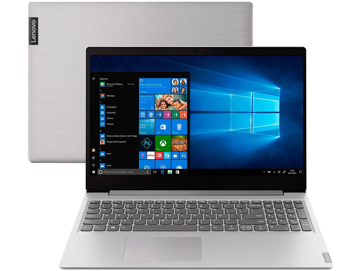 Notebook Lenovo Ideapad S145 82DJ0002BR - Intel Core i3 4GB 1TB LCD Windows 10 Home