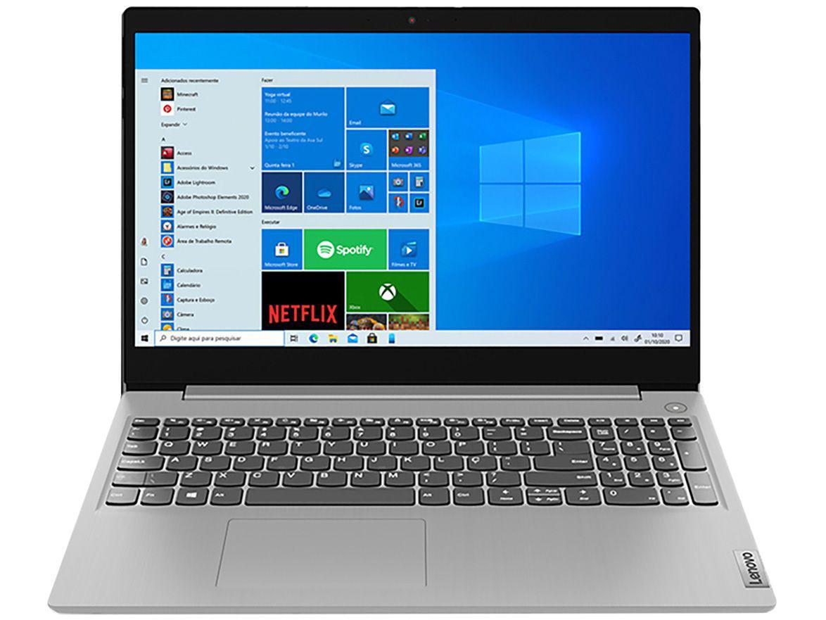 "Notebook Lenovo IdeaPad3i 82BS0006BR Intel Core i3 - 4GB 256GB SSD 15,6"" LCD Windows 10"