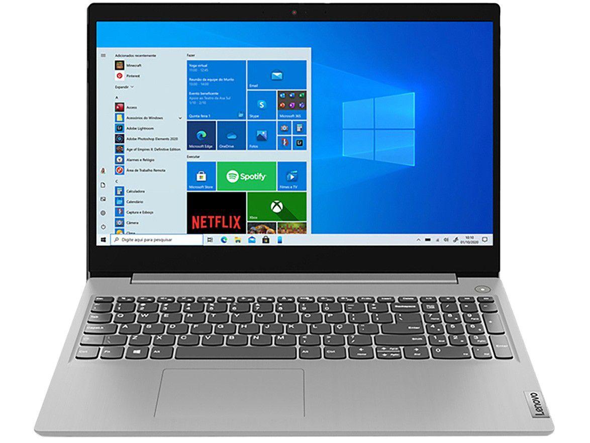 "Notebook Lenovo IdeaPad3i 82BS0005BR Intel Core i5 - 8GB 256GB SSD 15,6"" LCD Windows 10"