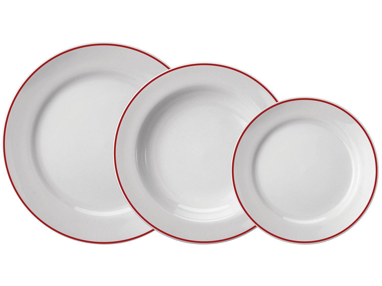 Aparelho de Jantar 18 Peças Schmidt Redondo - Porcelana Filete 57890200070038102359