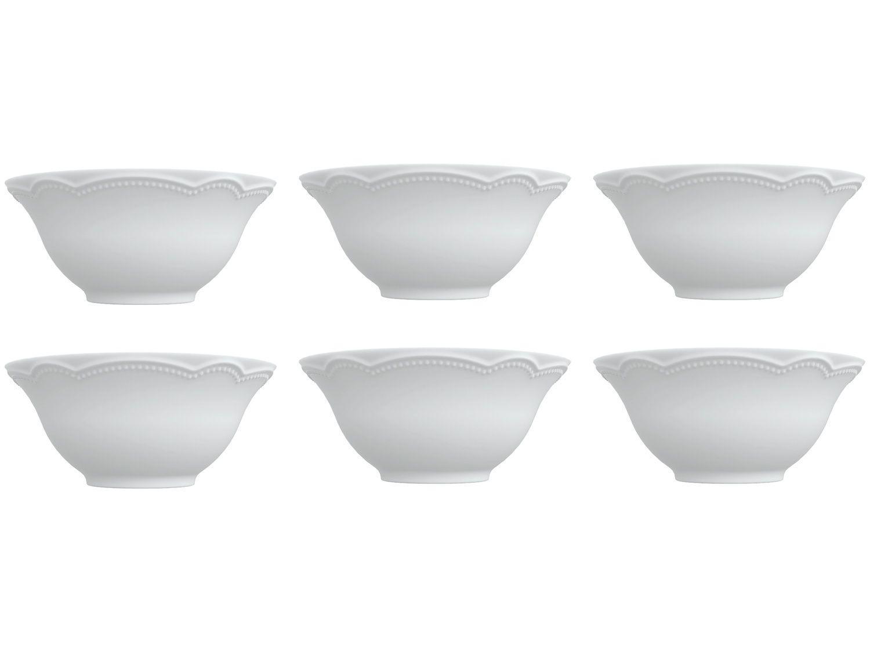 Bowl Porcelana Branco Germer 450ml Relevos - Cottage