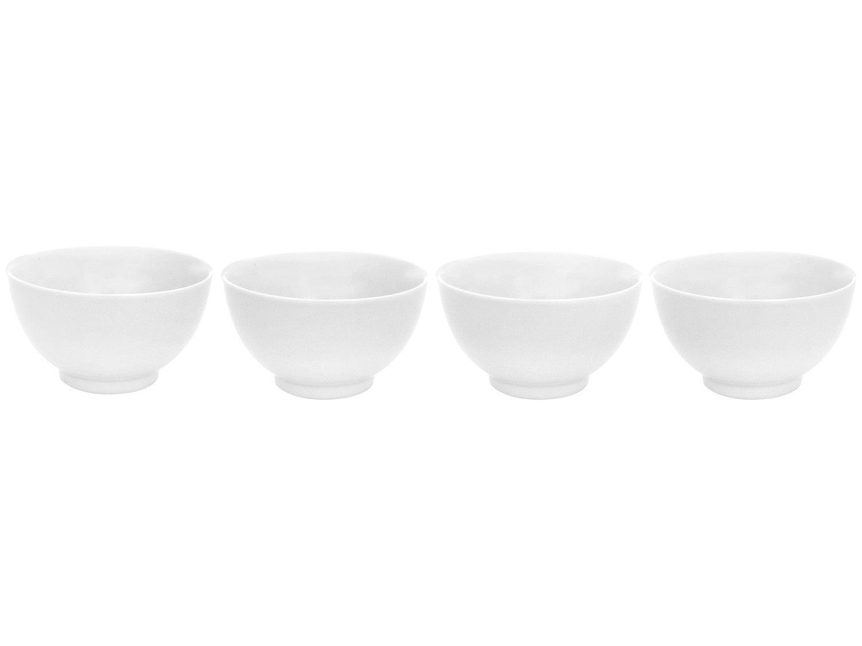 Conjunto de Bowls Branco Porcelana Schmidt 500ml - 70810132200030500000 4 Peças