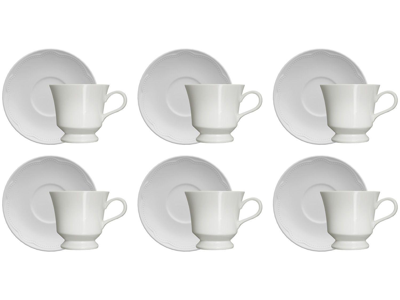 Jogo de Xícaras de Chá Porcelana 190ml Germer - Cottage 6 Peças