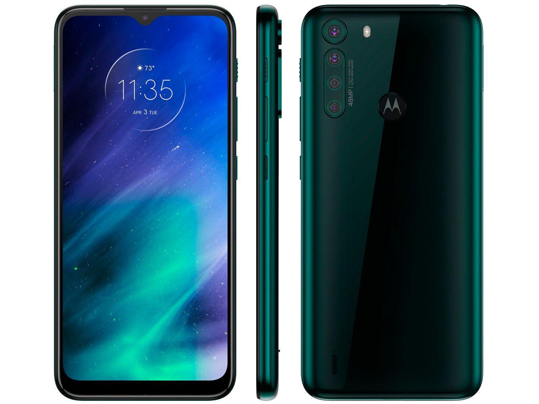 "Smartphone Motorola One Fusion 128GB Verde - Esmeralda 4GB RAM 6,5"" Câm. Quádrupla + Selfi"
