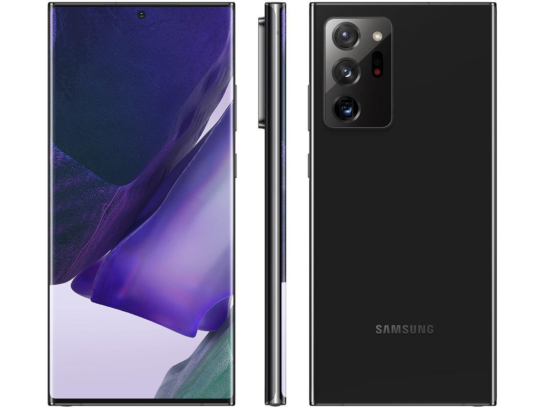 "Smartphone Samsung Galaxy Note 20 Ultra 256GB - Mystic Black 12GB RAM 6,9"" Câm. Tripla + Selfie"