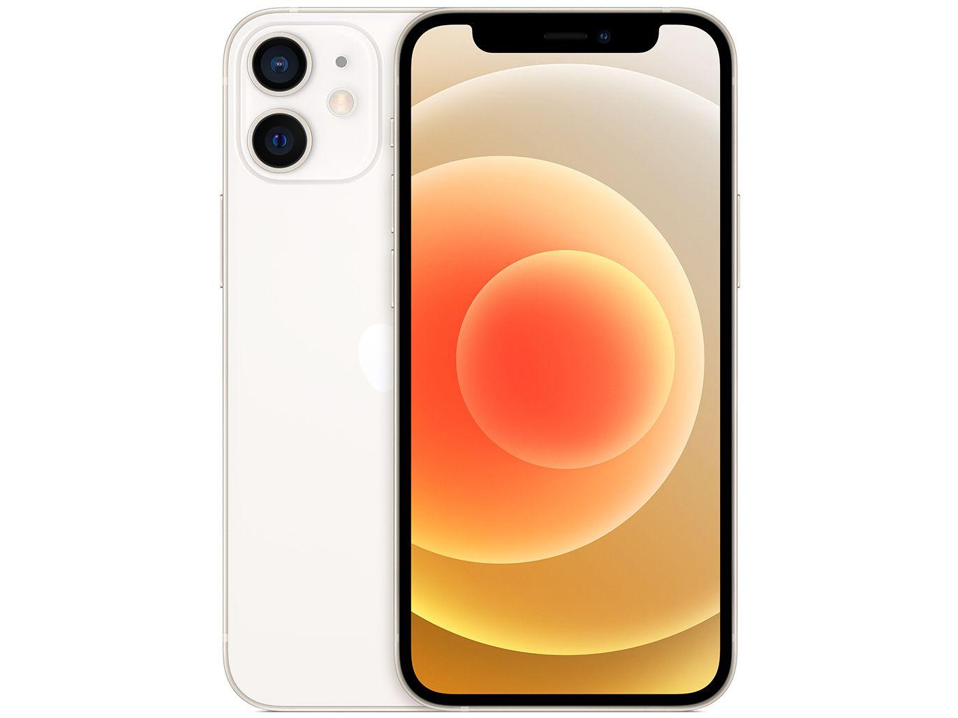 "iPhone 12 Mini Apple 128GB Branco 5,4"" - Câm. Dupla 12MP iOS"