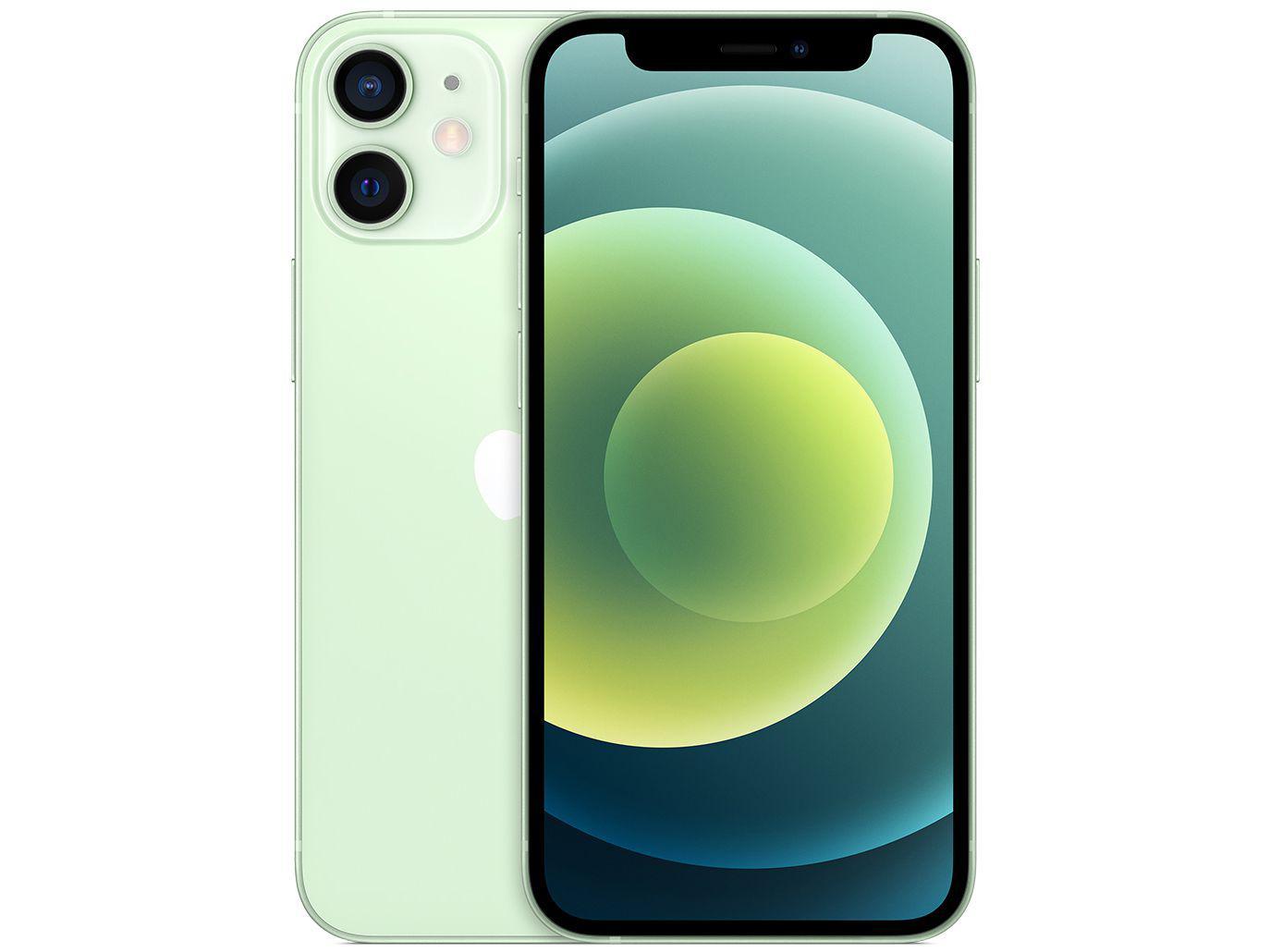"iPhone 12 Mini Apple 256GB Verde 5,4"" - Câm. Dupla 12MP iOS"