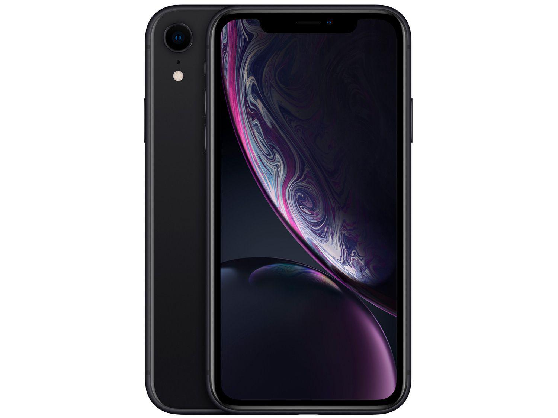 "iPhone XR Apple 64GB Preto 6,1"" 12MP iOS"