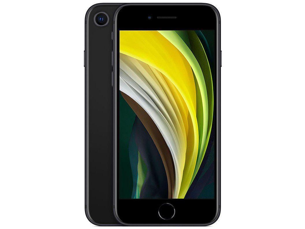 """iPhone SE Apple 256GB Preto Tela 4,7"""" 12 MP - iOS"""