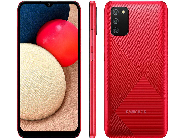 "Smartphone Samsung Galaxy A02s 32GB Vermelho 4G - Octa-Core 3GB RAM 6,5"" Câm. Tripla + Selfie 5"