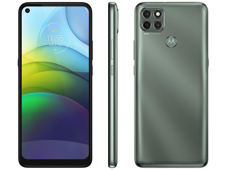 """Smartphone Motorola Moto G9 Power 128GB - Verde Pacífico 4G 4GB RAM Tela 6,8"""" Câm. Trip"""