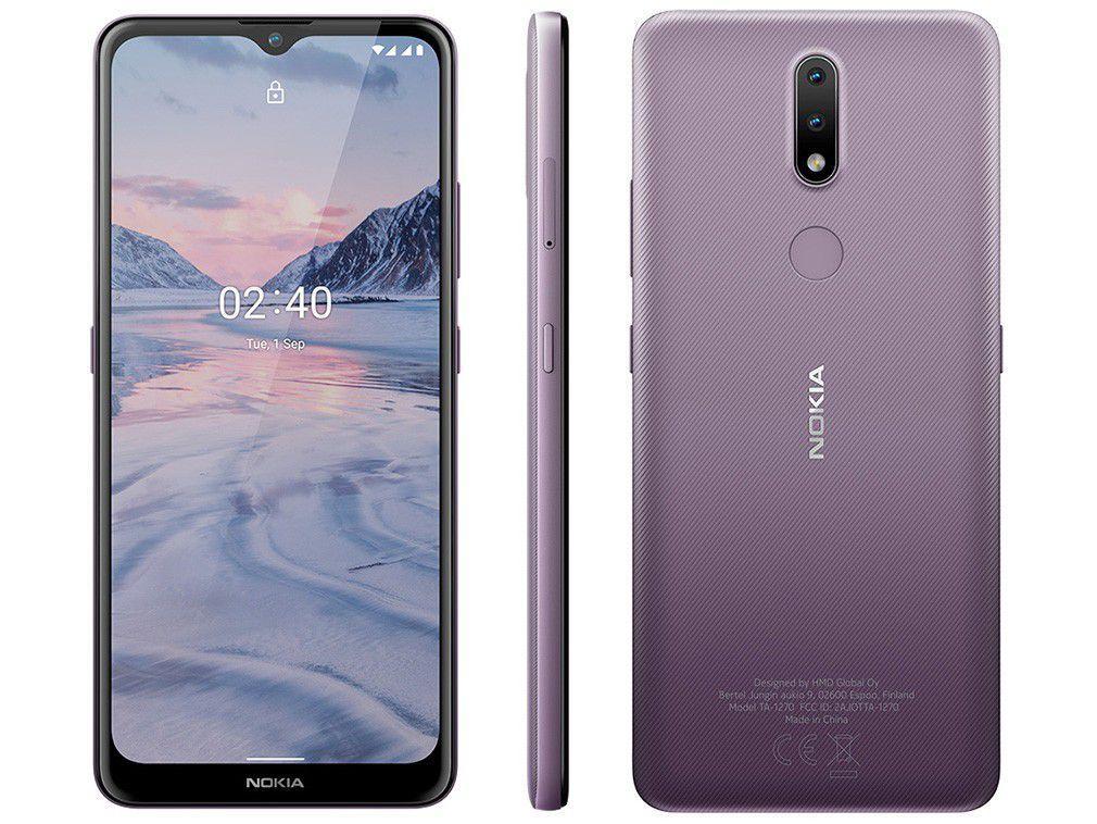 """Smartphone Nokia 2.4 64GB Roxo 4G Octa-Core - 3GB RAM Tela 6,5"""" Câm. Dupla + Selfie 5MP"""