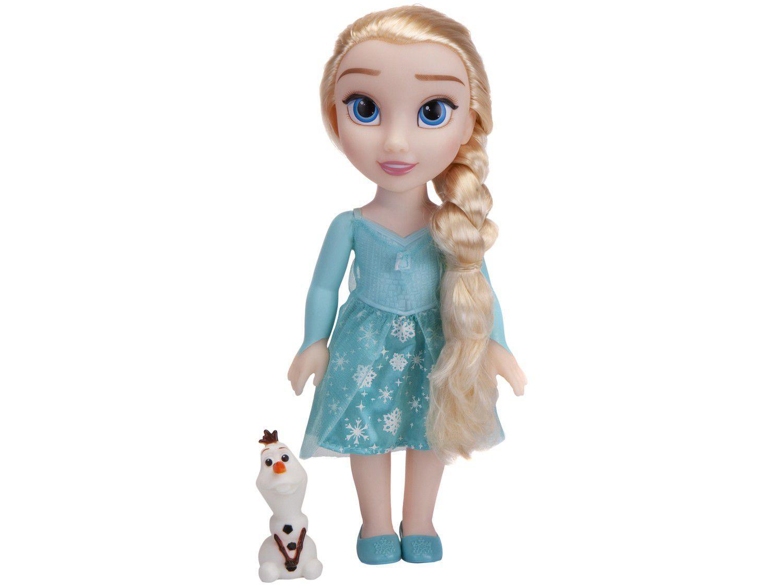 Boneca Disney Frozen II Elsa Passeio com Olaf 28cm - com Acessórios Mimo Toys