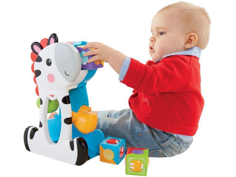 Brinquedo de Encaixar Zebra Blocos Surpresa - Fisher-Price CGN63