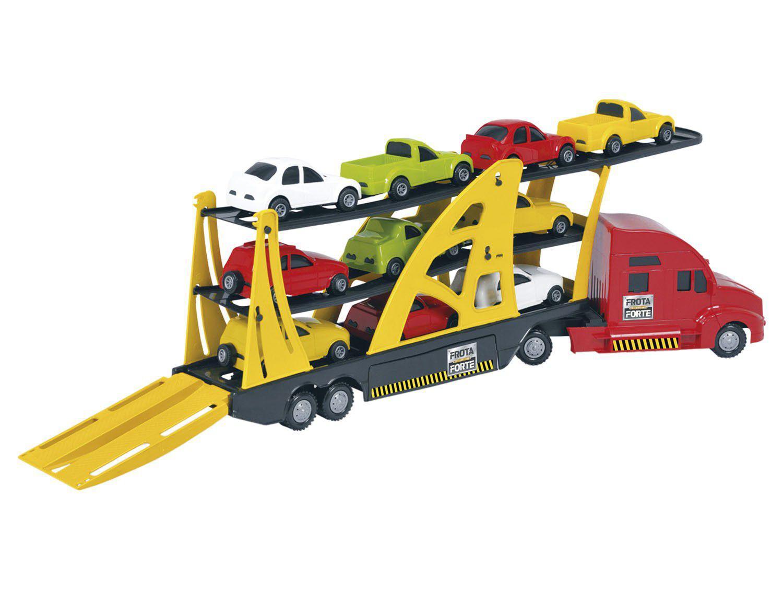 Mini Caminhão Infantil Cegonheira Frota Forte - Home Play