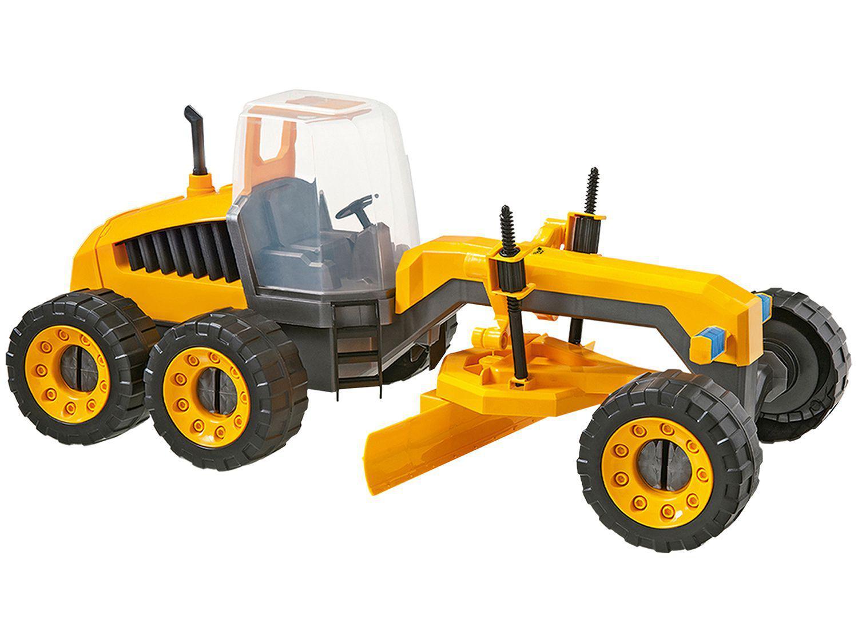 Trator Construction Machines Plainer - Usual Brinquedos 306 com Acessórios
