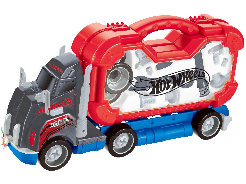 Caminhão de Brinquedo Hot Wheels Roda Livre Fun - 20 Peças com Acessórios