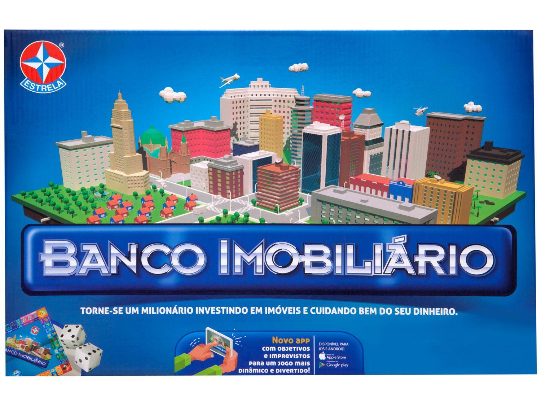 Jogo Banco Imobiliário - Tabuleiro Estrela