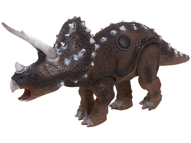 Dinossauro de Brinquedo Emite Som Triceratops - Bee Toys