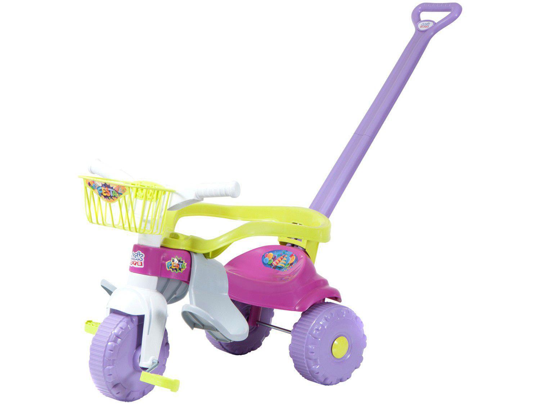 Triciclo Infantil Magic Toys Festa Rosa - Haste Removível