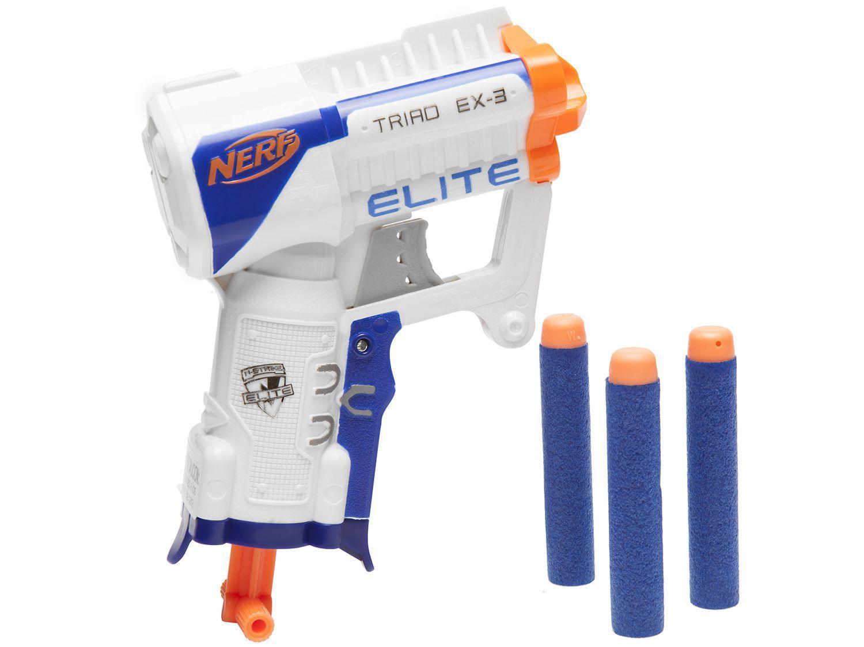 Lançador de Dardos Nerf Elite Triad EX-3 - Hasbro 4 Peças