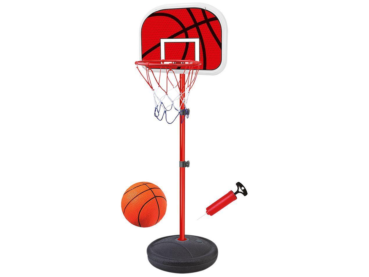Tabela de Basquete com Pedestal com Bola e Bomba - 202cm Dm Toys Basquete Radical