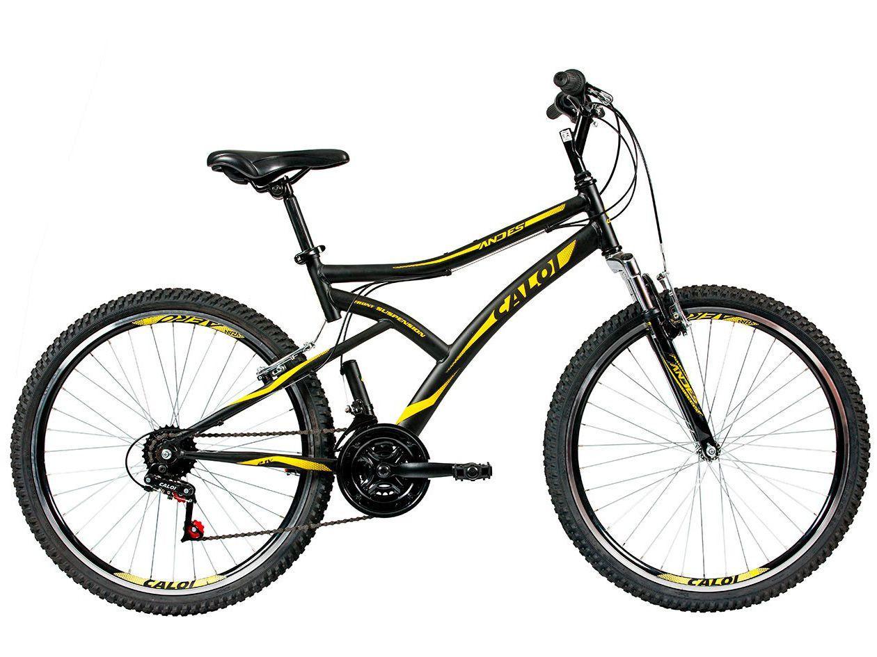 Mountain Bike Aro 26 Caloi Andes Aço Freio V-Brake - 21 Marchas