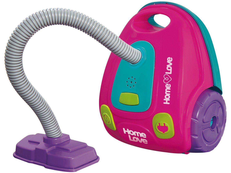 Aspirador de Pó de Brinquedo Home Love - Emite Som e Luz Usual Brinquedos