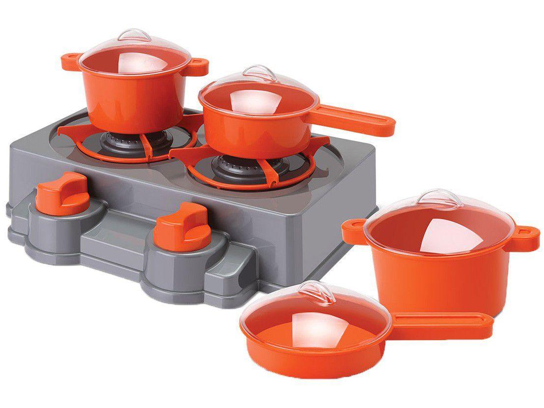 Kit Cozinha Infantil Petit Chef Show Samba Toys - 8 Peças