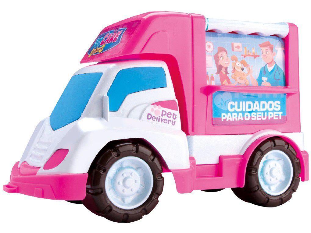 Carrinho Veterinária Pet Care Delivery Samba Toys - 10 Peças com Acessórios