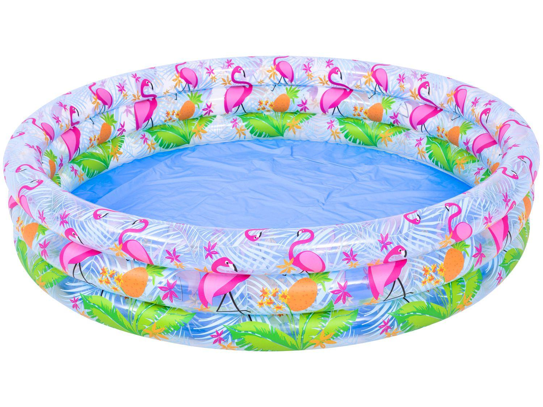 Piscina Infantil Inflável Jilong 190L - Redonda Flamingo