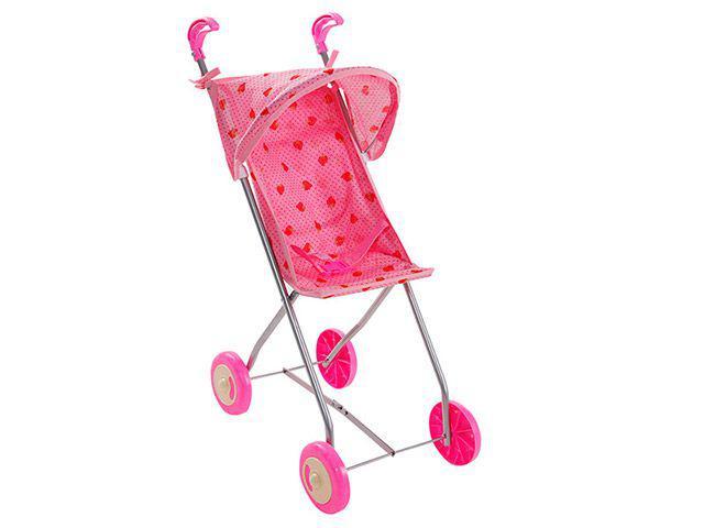 Carrinho de Boneca Semi Luxo 1 Rosa - Brinquedos Oliveira