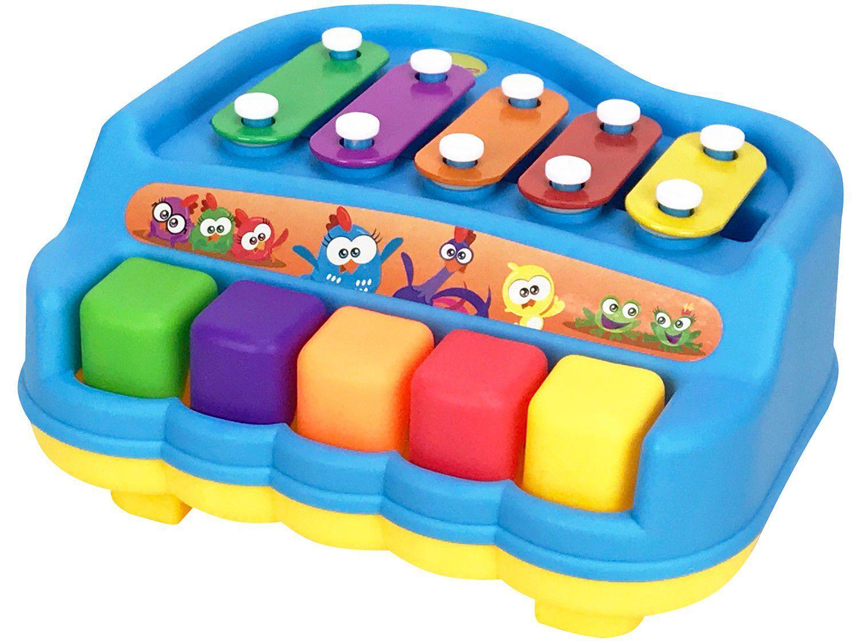 Piano Xilofone de Brinquedo Pura Diversão - Galinha Pintadinha Yes Toys