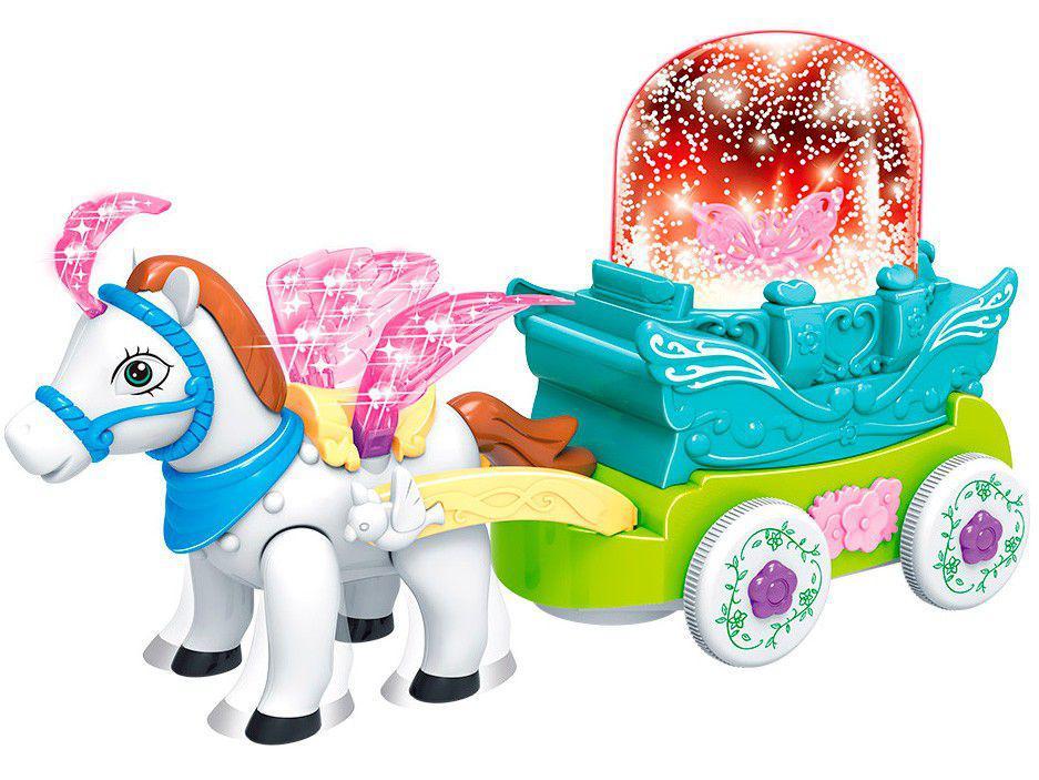 Brinquedo Musical Carruagem Bate e Volta Musical - Dm Toys