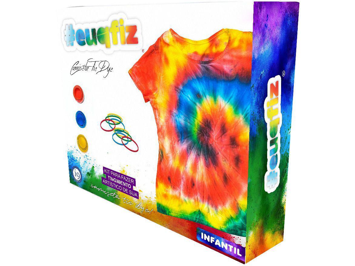 Kit Tie Dye com Camiseta Infantil #euquefiz - i9 Brinquedos