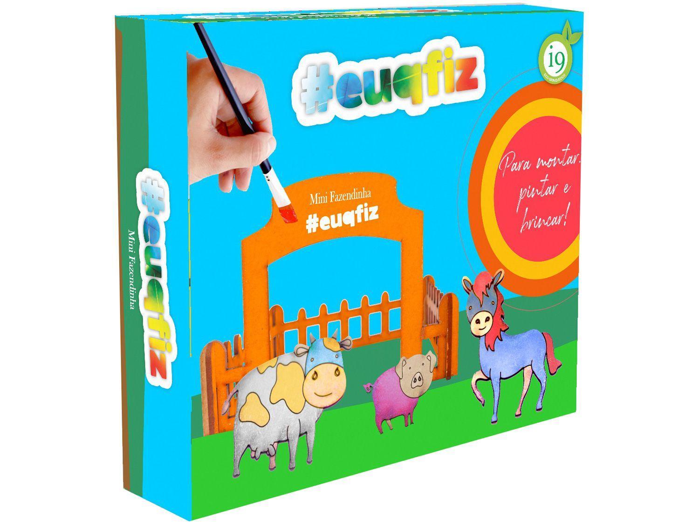 Kit de Pintura #euqfiz Mini Fazendinha - com Acessórios i9 Brinquedos